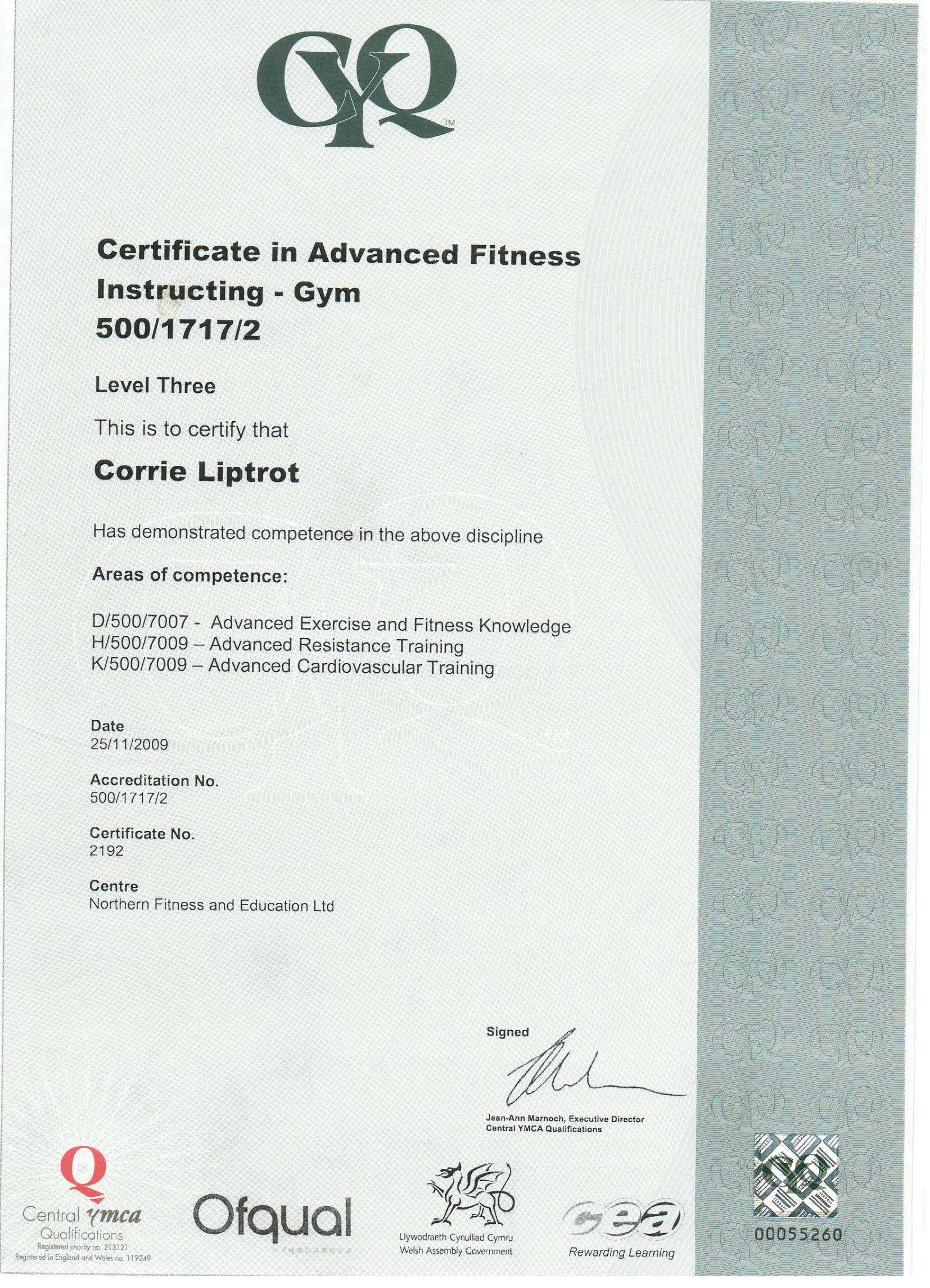 Gym Training Gym Training Certificate
